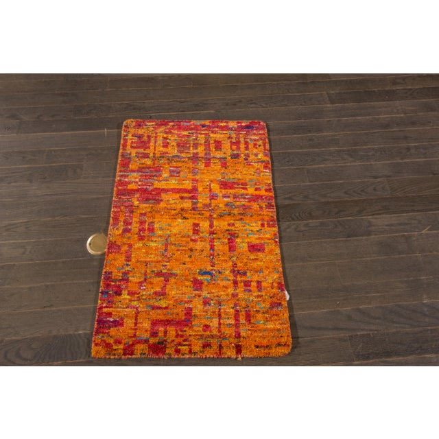 Modern Indian Rug, 2' x 3' For Sale - Image 4 of 5