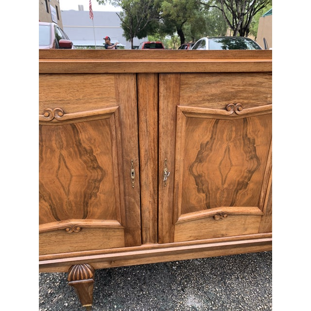 1940s 1940s French Solid Walnut Sideboard For Sale - Image 5 of 13