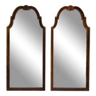Italian La Barge Style Wood Framed Wall Mirrors - a Pair For Sale