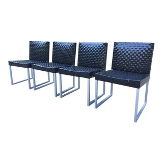 Modern Tidelli Woven Outdoor Chairs - Set of 4 For Sale