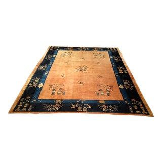 """Late 1800s Art Deco Chinese Peking Carpet - 9' 1"""" X 11' 2"""" For Sale"""