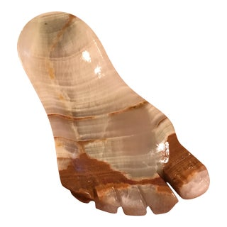 Onyx Foot-Shaped Trinket Dish For Sale