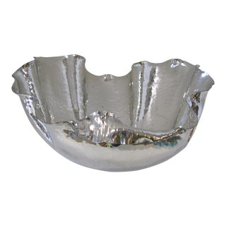 Italian Silver Hammered Shell Bowl