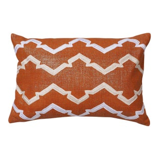 "Piper Collection Lava Metallic Linen ""Finley"" Pillow For Sale"
