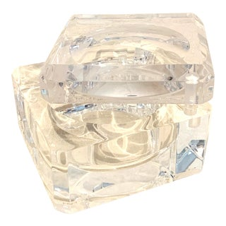 Alessandro Albrizzi Vintage Hinged Lucite Ice Bucket For Sale