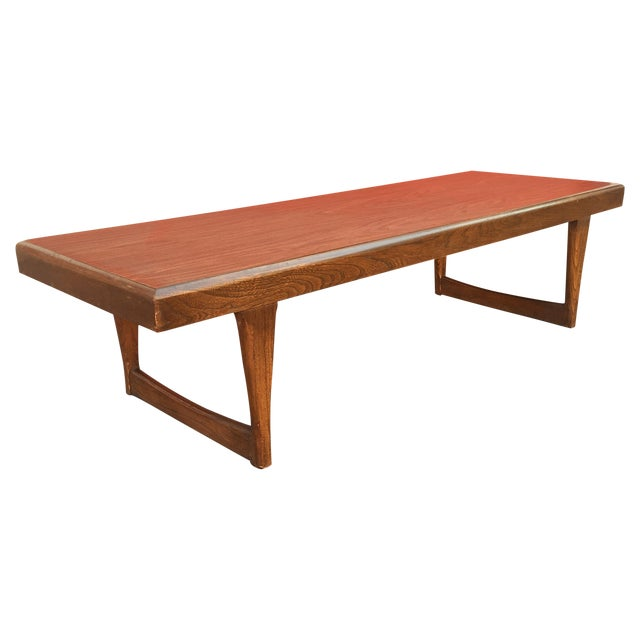 Mid Century Modern Walnut Coffee Table - Image 1 of 10