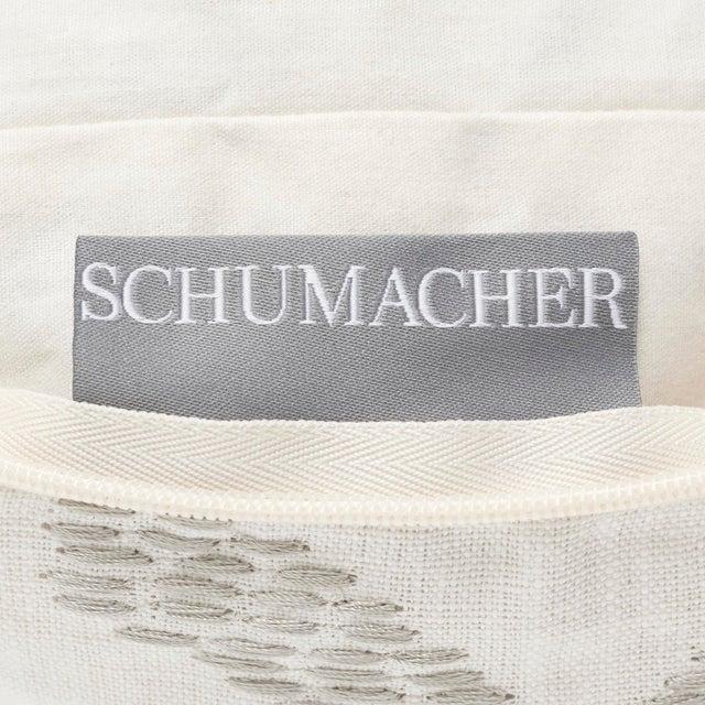 Navy Blue Schumacher Jennie Velvet Bolster Pillow in Blue & Red For Sale - Image 8 of 9