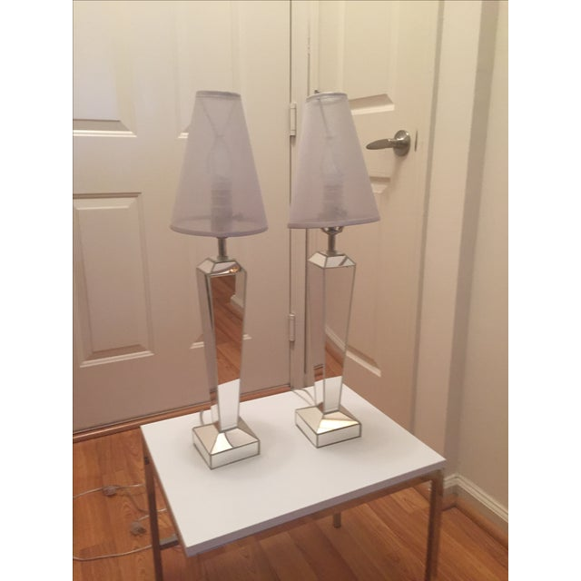Venfield Mirrored Candlestick Lamps - Pair - Image 3 of 6