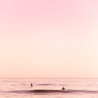 Contemporary 'Santa Monica - Pink' Photography by Kristin Hart, 30x30 For Sale