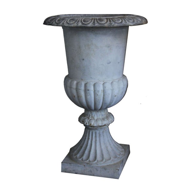 French Country Monumental French Urns - A Pair For Sale - Image 3 of 5