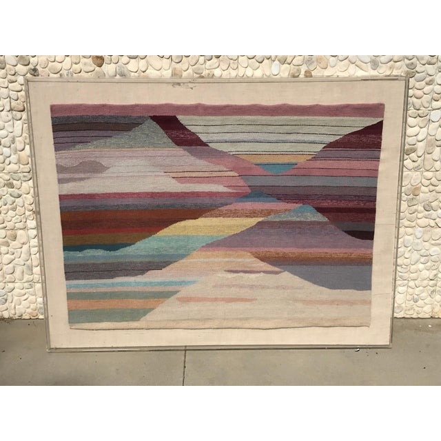 Handwoven Abstract in Plexi Case From a Steve Chase Palm Springs Estate For Sale In Palm Springs - Image 6 of 10