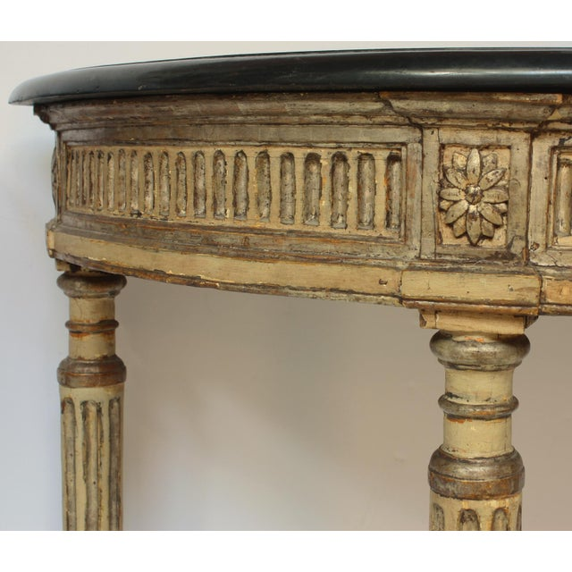 Late 18th Century Rare Pair of Italian Neoclassical Console Tables For Sale - Image 5 of 7