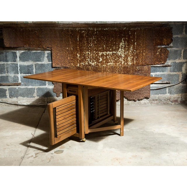 Drop Leaf Veneer Dining Set - Image 4 of 11