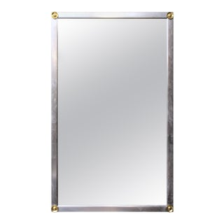 Modern Metal Frame Wall Mirror For Sale