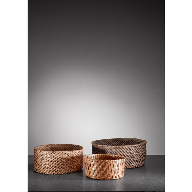 Late 19th Century Set of three folk art baskets, Sweden, 19th Century For Sale - Image 5 of 5