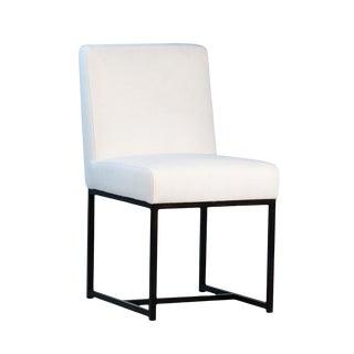 Modern White Linen Dining Chair