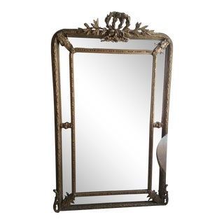 Napoleon III Paraclose Gilt Mirror For Sale