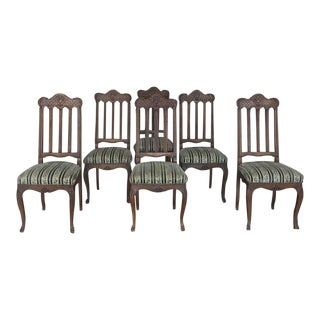 Set of 6 Antique Liegoise Dining Chairs For Sale