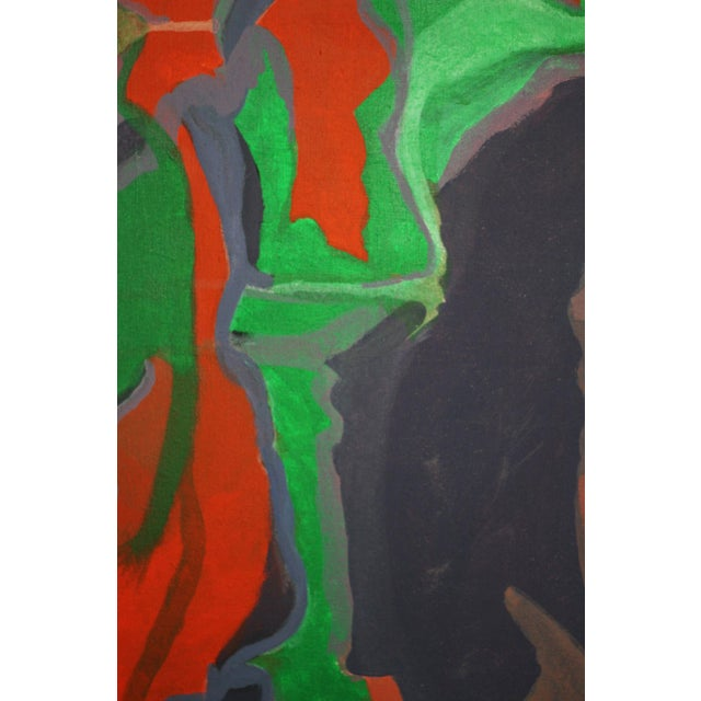 Large Abstract Painting Signed Thomas '82 For Sale - Image 4 of 9