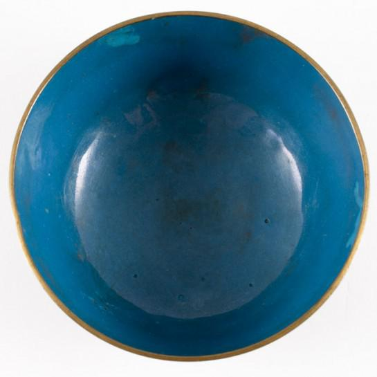 Late 19th Century 19th Century Antique Chinese Cloisonne Dragon Bowl For Sale - Image 5 of 11