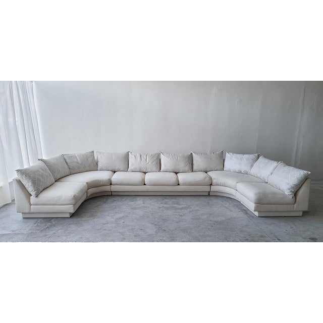 Great 5 piece modular sectional sofa by Milo Baughman for Directional, tagged. A massive sofa that will make a massive...