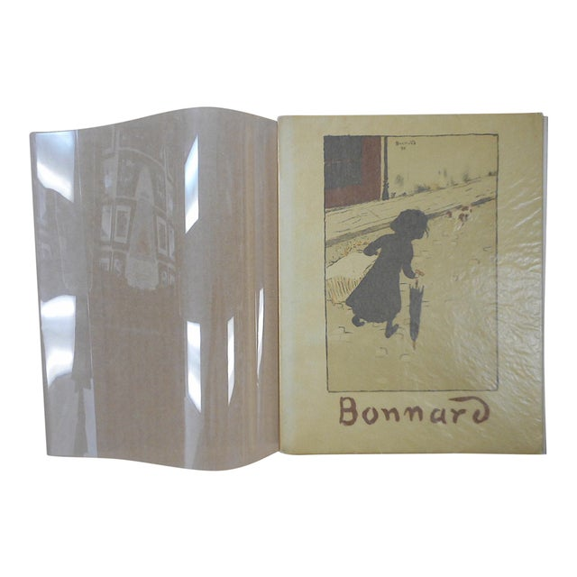 """Vintage Mid Century Illustrated Book-""""Bonnard Lithographie""""-First Edition-Profusely Illustrated For Sale"""