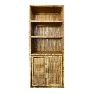 Vintage Rattan/Bamboo Cabinet For Sale