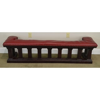 Prairie Style Antique Mahogany Fire Place Bench Preview
