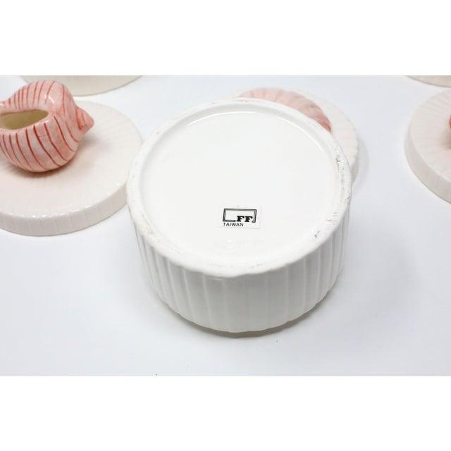 Ceramic Vintage Fitz & Floyd Ceramic Seashell Trinket Boxes - Set of 3 For Sale - Image 7 of 11