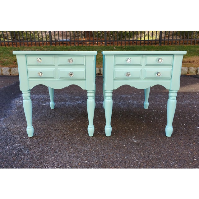 1950s Boho Chic Mersman Solid Wood Bedside Tables - a Pair For Sale - Image 4 of 12