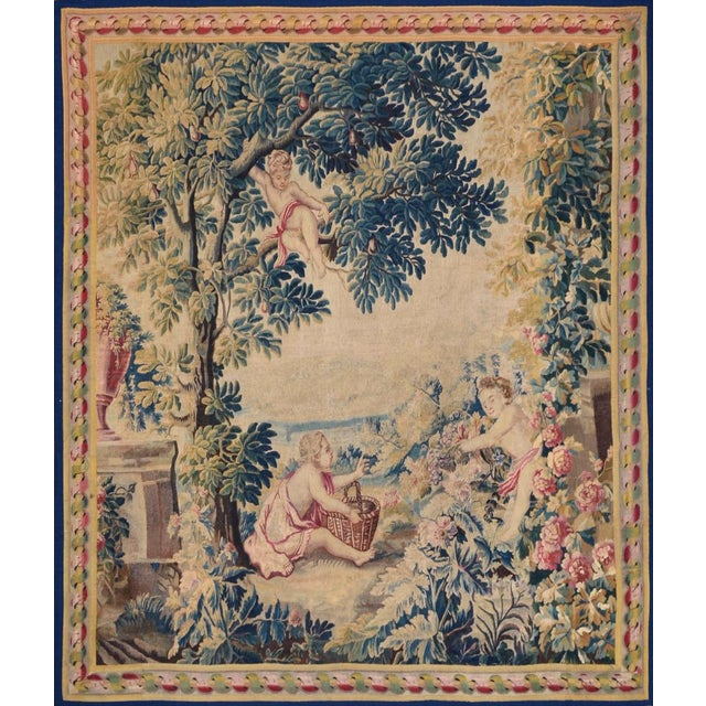 Traditional 18th Century Antique Tapestry From Lille, France For Sale - Image 3 of 3