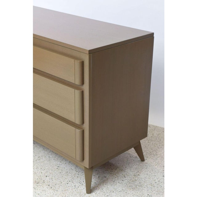 1950s Pair of American Modern Cerused Oak Commodes For Sale - Image 5 of 9