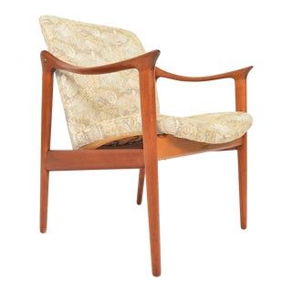 Fredrik Kayser Teak Lounge Chair For Sale