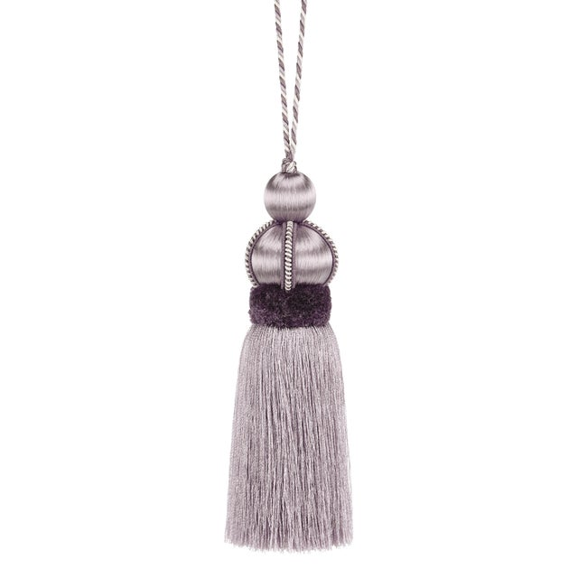 """Wisteria Key Tassel With Cut Ruche - Tassel Height - 5.75"""" For Sale - Image 4 of 4"""