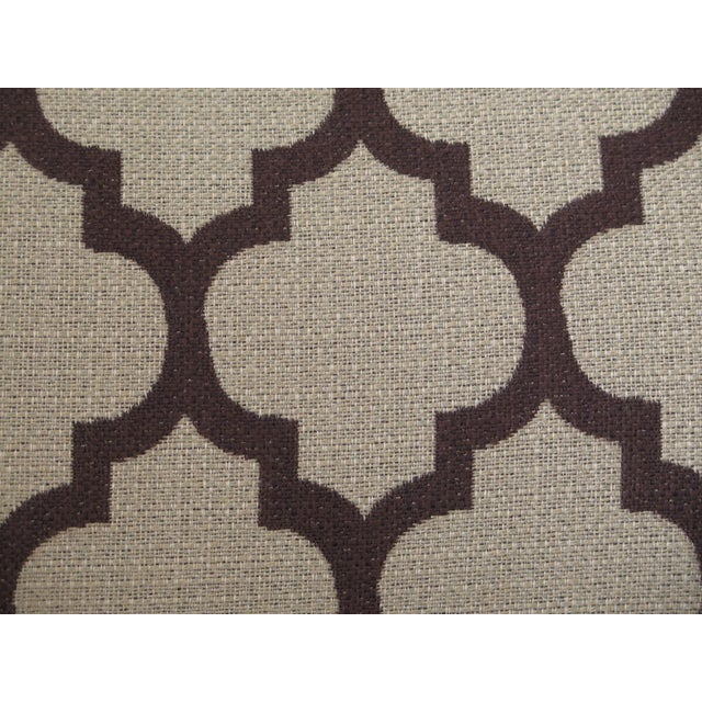 Textile Modern Century Geometric Print Upholstered Club Chairs- A Pair For Sale - Image 7 of 12