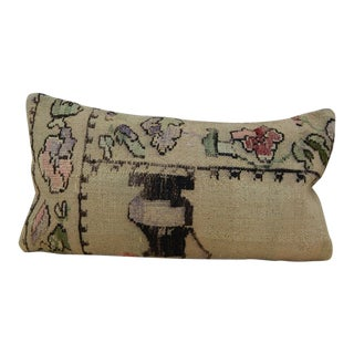 Turkish Lumbar Aubusson Kilim Pillow For Sale