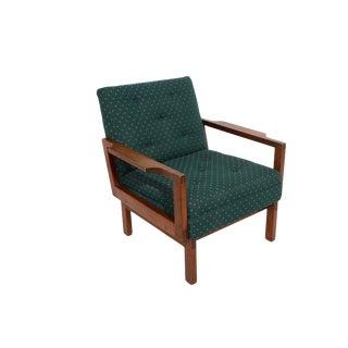 Gunlocke Chair Co. Walnut Lounge Chair For Sale