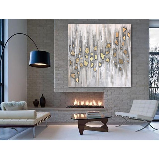 Gold 'Midas' Original Abstract Painting by Linnea Heide For Sale - Image 8 of 10