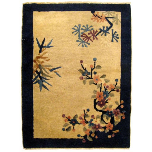 """1900s Antique Chinese Peking Oriental Rug-2'2'x3"""" For Sale - Image 4 of 4"""