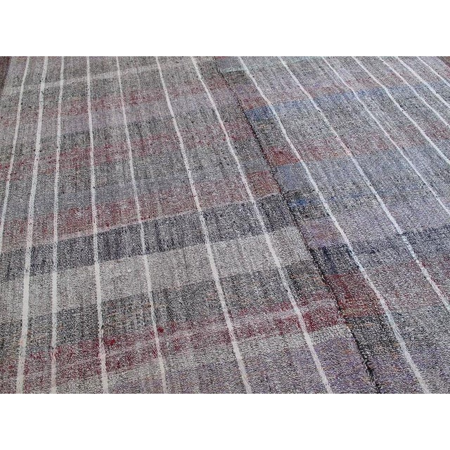 Cotton and Goat Hair Kilim with Subtle Color For Sale - Image 4 of 9