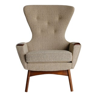 Mid Century Adrian Pearsall for Craft Associates Wingback Chair For Sale