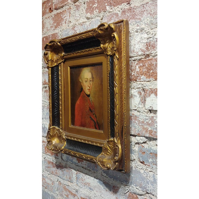 """Brown 18th Century """"Ferdinand DI Borbone, King of Naples"""" Oil Painting For Sale - Image 8 of 10"""