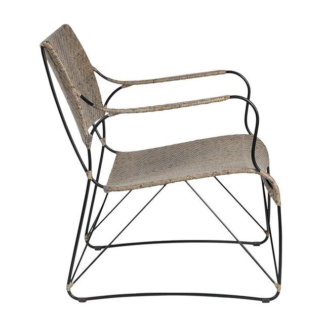 Contemporary David Francis Indoor Seto Lounge Chair - Gray For Sale - Image 3 of 6