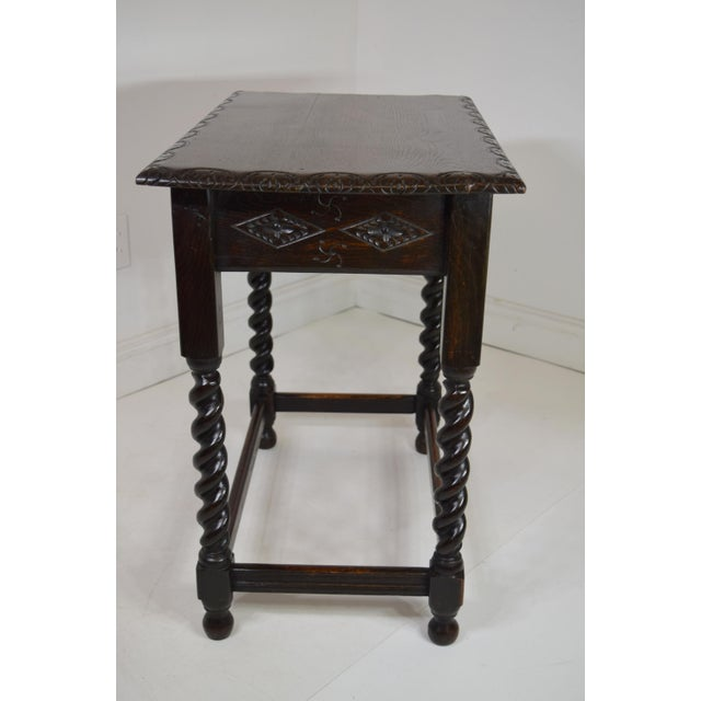 Early 19th-Century English Georgian Oak Stand For Sale - Image 6 of 8