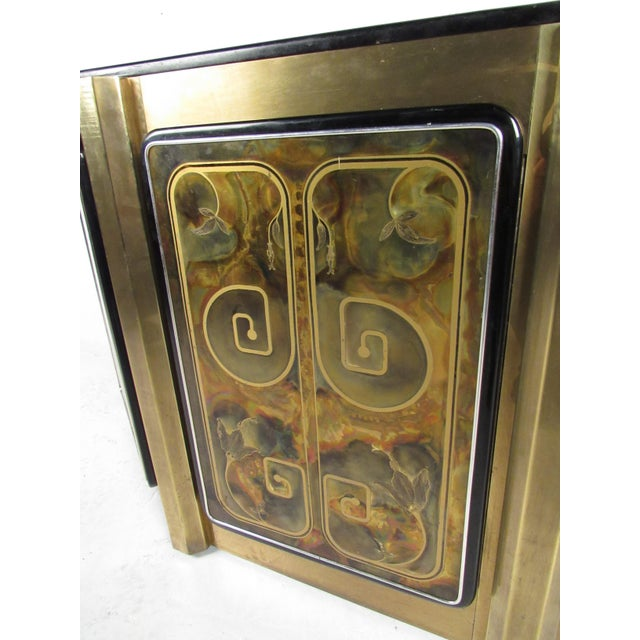 1970s Stunning Mastercraft Demilune Console Cabinet by Bernhard Rohne For Sale - Image 5 of 13