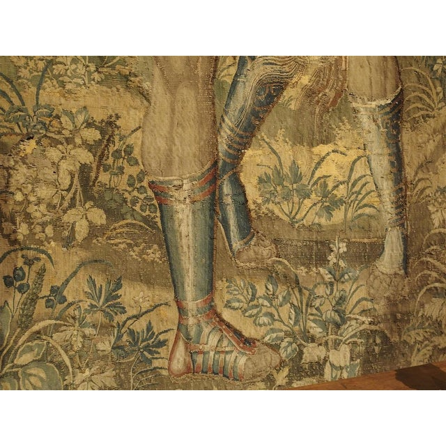 Large 17th Century Flanders Tapestry Depicting a Roman Scene For Sale - Image 9 of 13