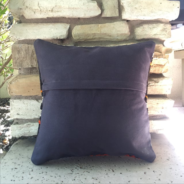 Vintage Turkish Kilim Pillow Case For Sale - Image 4 of 4