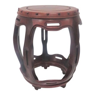 Chinese Rosewood Garden Stool For Sale