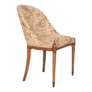 Vintage Louis XVI Style Slipper Winged Side Chair For Sale