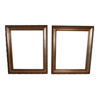 Gold Gilt Picture Frames - A Pair For Sale